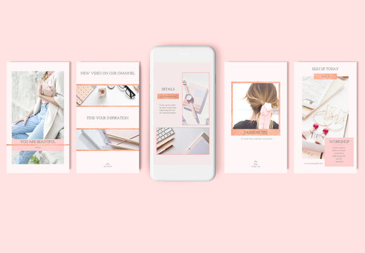 10 Social Media Post Layouts with Glitter Elements
