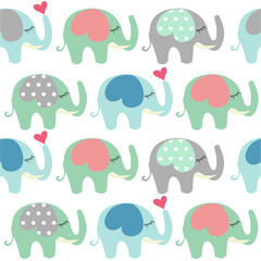 Baby Shower greeting card with Elephant