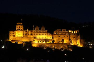 Heidelberg Schloß stimmungsvoll am Abend