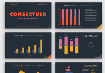 Colorful Infographic Presentation Layout on Dark Background