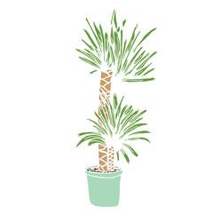 Cute green palm picture design