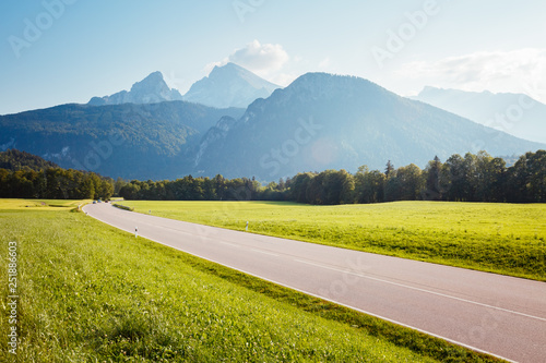 Wall mural Scenic surroundings near the Konigsee lake. Wonderful day and gorgeous scene.