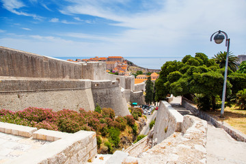 Fototapete - Fantastic view of the ancient city Dubrovnik on a sunny day.