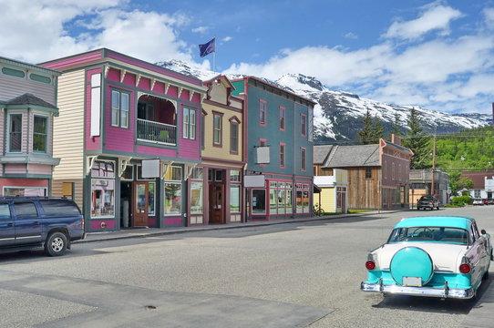 Street in Skagway, Alaska, USA