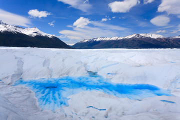 Perito Moreno glacier ice formations detail view
