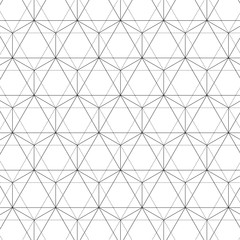 Jewel of Life - Seamless Vector Sacred Geometry Patterns For Layer Masks Black