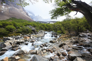 French Valley landscape, Torres del Paine, Chile
