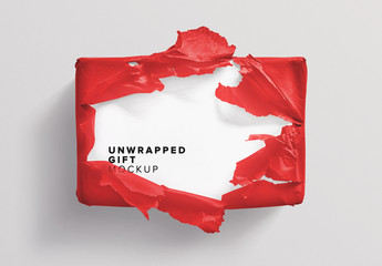 Unwrapped Gift Box Mockup