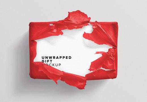 Unwrapped Gift Box Mockup