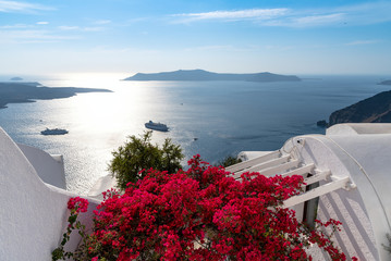 Thira village - Aegean sea - Santorini island - Greece