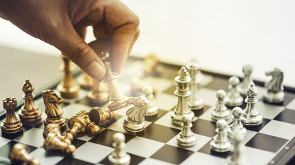 Chess, chess competition, winning in chess, victory game of competition, business, technology, and the future world. - images