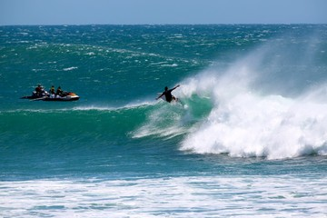 Perfect waves at Kirra Beach during Cyclone Oma, Gold Coast Queensland Australia surfing.
