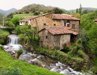 typical village, asturias, Spain.
