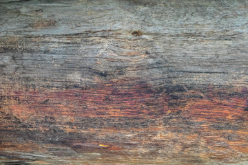 Old wooden board, background texture red yellow