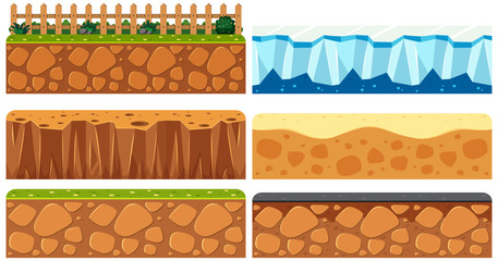 Set of ground surface Wall mural