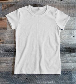 Ladies white blank tee shirt