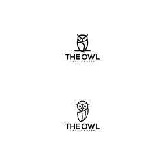 modern and creative owl logo design vector