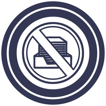 office paperless circular icon