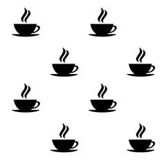 コーヒーカップの模様