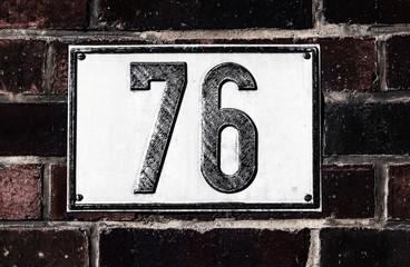 Hausnummer 76
