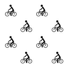 自転車の模様