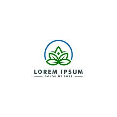 Organic leaf logo template, Abstract Cannabis icon, Marijuana design vector illustration