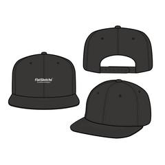 SNAPBACK Cap Fashion flat vector mockup design