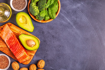 Animal and vegetable sources of omega-3 acids.