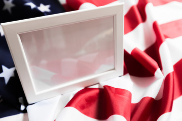 frame on American flag background - Image.