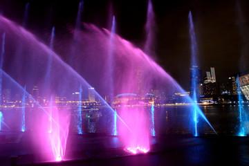 Laser showin Marina Bay, Singapore