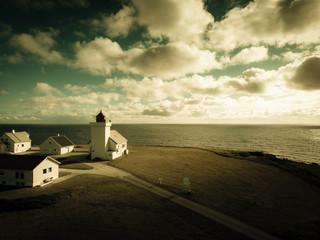 Obrestad lighthouse in Norway.