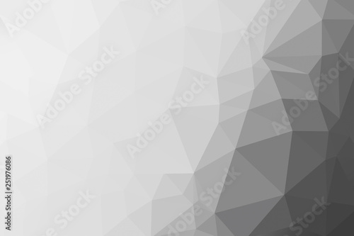 black, grey and white gradient triangle background, abstract
