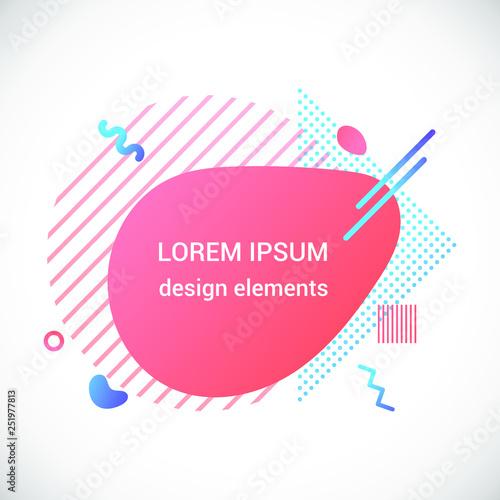 b45166baf3d36 Modern liquid abstract element shape gradient memphis style design fluid  vector colorful illustration banner simple shape template for presentation,  flyer, ...