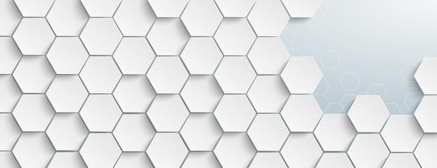 Weiße Hexagonstruktur an einen Stelle geöffnet Wall mural