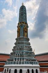 Colorful column in Grand Palace, Bangkok, Thailand