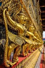 Golden statues in Grand Palace, Bangkok, Thailand