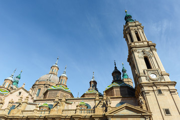 Basilica - Cathedral of Our Lady of Pillar in Zaragoza, Aragon, Spain