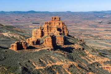 Castle Rock in Armantes mountain range, Zaragoza, Spain