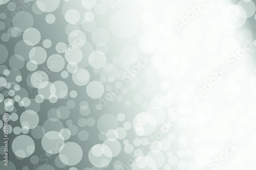 white and grey Bokeh lights gradient background template