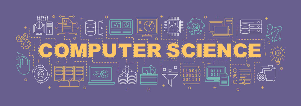 Computer science word concepts banner