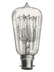 Edison Light bulb vector illustration