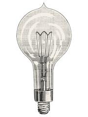 Round Light bulb vector illustration