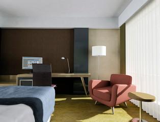 Room interior design. 3d rendering
