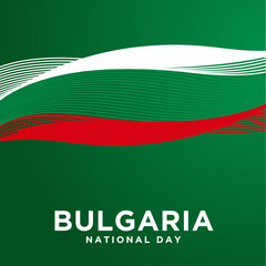 Bulgaria Independence Day Vector Design
