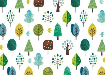 北欧の木水彩テクスチャ青系