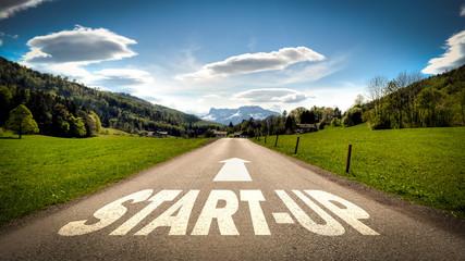 Fototapete - Schild 401 - Start-up