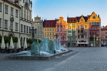 Obraz Rynek we Wrocławiu - fototapety do salonu