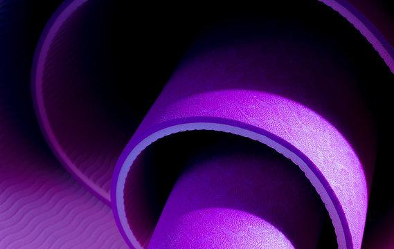 spiral purple background, yoga mat texture
