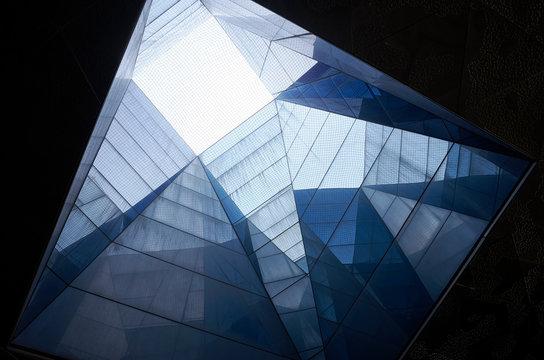 abstraktes futuristisches architektur detail