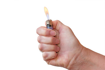 lighter in a hand